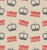 Old Seamless Texture of Crown of Queen. Retro Background Stock Photo