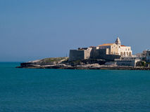 Old seaside town of Vieste in Puglia, Italy Royalty Free Stock Photos