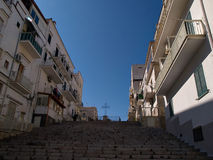 Old seaside town of Vieste in Puglia, Italy Royalty Free Stock Photography