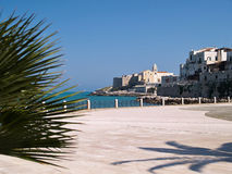 Old seaside town of Vieste in Puglia, Italy. Famous tourist attraction destination royalty free stock photo
