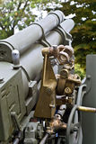 Old second world war artillery weapon. In a museum at Greece, Europe Royalty Free Stock Photography