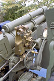 Old second world war artillery weapon. In a war museum Royalty Free Stock Photo