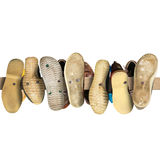 Old secondhand shoes Stock Photo