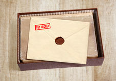 Old secret envelope Stock Photo