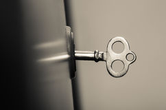 Old secret key. retro photo Stock Images