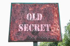 Old secret message Royalty Free Stock Images