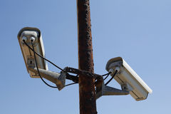Old security camera Stock Images