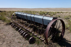 Old seed sowing machine Royalty Free Stock Images