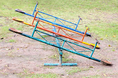 Old seesaw board Stock Photography