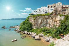 Old seeside town of Vieste in Italy royalty free stock photos