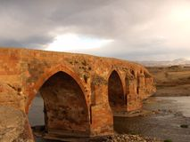 Old Seljuk bridge on the Kars road Royalty Free Stock Images