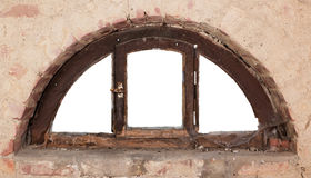 Old semicircular window Stock Photos