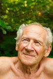 Old Senior Looking Up Stock Image