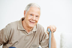 Old senior man with cane Stock Photos