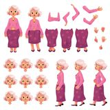Old, senior woman character creation set Stock Images