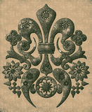Old sepia ornament background Stock Image