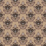 Old sepia seamless  damask background Royalty Free Stock Image