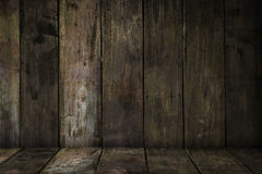 Old sepia wood planks. With a rust paint wash background Stock Image