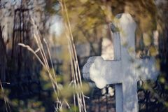 Old sepulchral cross at the cemetery. The old sepulchral cross at the cemetery Royalty Free Stock Photos