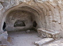 Old Sepulchre. An old sepulchre in Beit She'arim National Park - Israel Royalty Free Stock Images