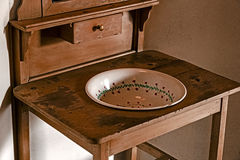 Old serbian furniture for washing their hands Stock Image