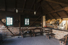 Old Serbian house interior. Old Serbian wooden house interior royalty free stock photography