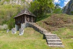 An old Serbian mountain house.  stock photos