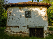 Old Serbian rural house. Old traditional Serbian rural house royalty free stock images