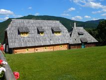 Old Serbian traditional house, Mokra Gora, Drvengrad. Old Serbian traditional house, Mokra Gora near Mecavnik or Drvengrad, Balkan, Europe stock images