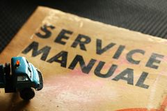 Old Service Book. Royalty Free Stock Images
