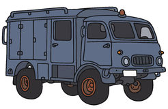 Old service truck. Hand drawing of an old small terrain service truck - not a real model Royalty Free Stock Photo