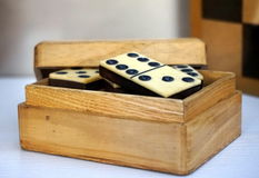 Old set of domino Royalty Free Stock Image