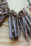 Old set of keys Stock Photo