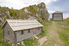 Old settlement on Birow mountain. Royalty Free Stock Photo