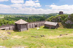 Old settlement on Birow mountain. Near Ogrodzieniec in Poland Royalty Free Stock Image