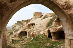 Old Settlement of Cavusin in Cappadocia, Turkey Royalty Free Stock Photography