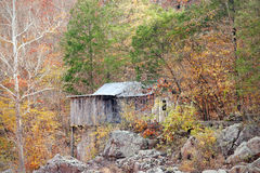 Old settlers cabin in the forest Royalty Free Stock Photos