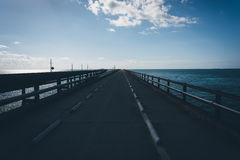 The Old Seven Mile Bridge, on Overseas Highway in Marathon, Flor Royalty Free Stock Image