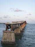 The old seven Mile Bridge, to Key West Stock Photography
