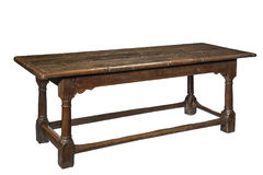 Old seventeenth century oak refectory dining table Stock Photos