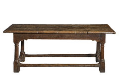 Old seventeenth century oak refectory dining table Royalty Free Stock Image