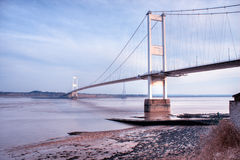 The old Severn Bridge Royalty Free Stock Photos