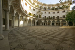 Old Sevillan Courtyard, Sevilla, Andalucia, Southern Spain Stock Images