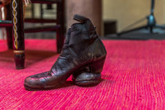 Old Sevillian flamenco dancing shoes Royalty Free Stock Photography