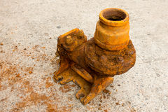 Old sewage pump and rust corrosion. Royalty Free Stock Image