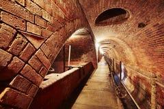 Old sewage treatment plant Stock Images
