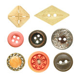 Old sewing buttons collection Royalty Free Stock Photo