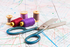 Old Sewing items Stock Images