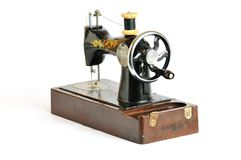 Old sewing machine Stock Photography