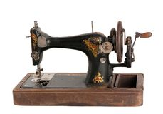 The old sewing machine Royalty Free Stock Photos